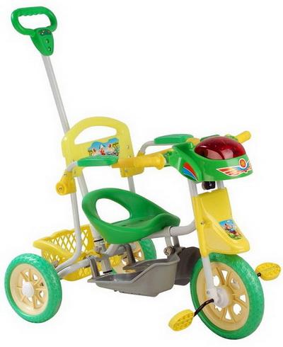 детский трехколесный велосипед с ручкой фото